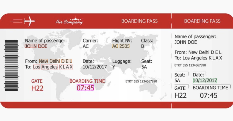 Boarding Pass OCR API