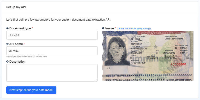 Set up your US Visa OCR API