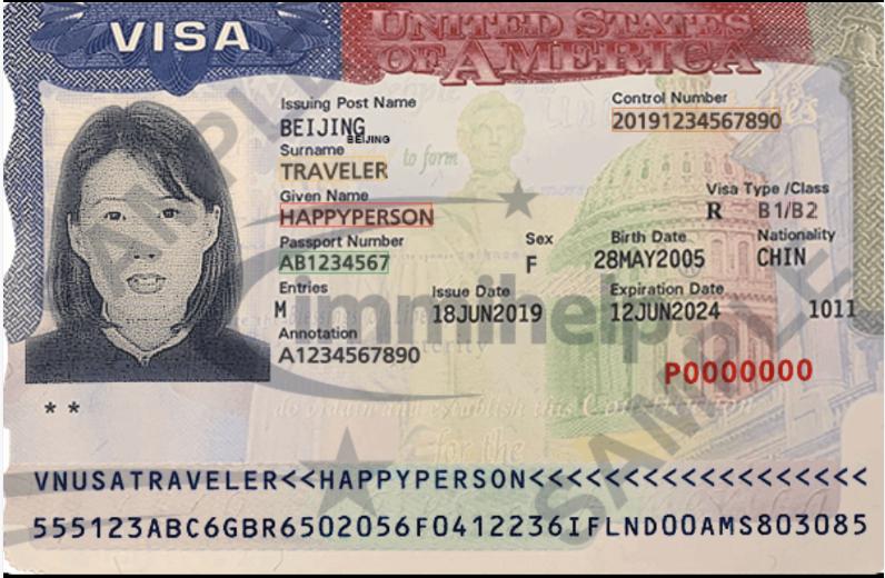 US Visa OCR API