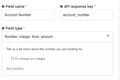 Account Number field for Bank Statement OCR