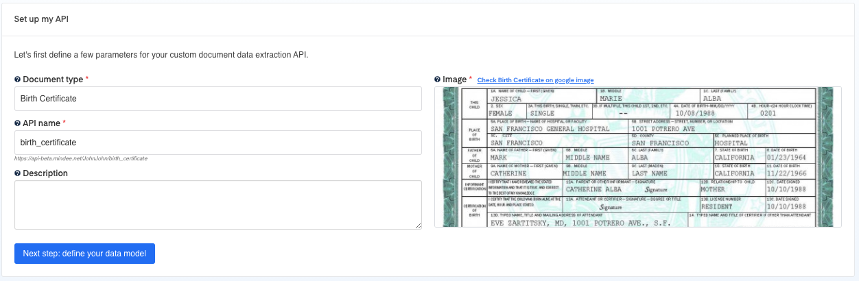 Set up your Birth Certificate OCR API