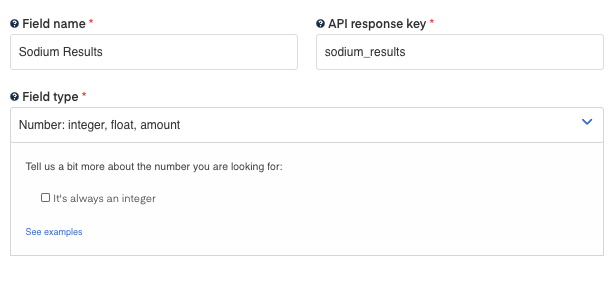Sodium Results field for Blood Test Results OCR