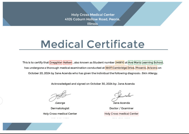 Medical Certificate OCR API