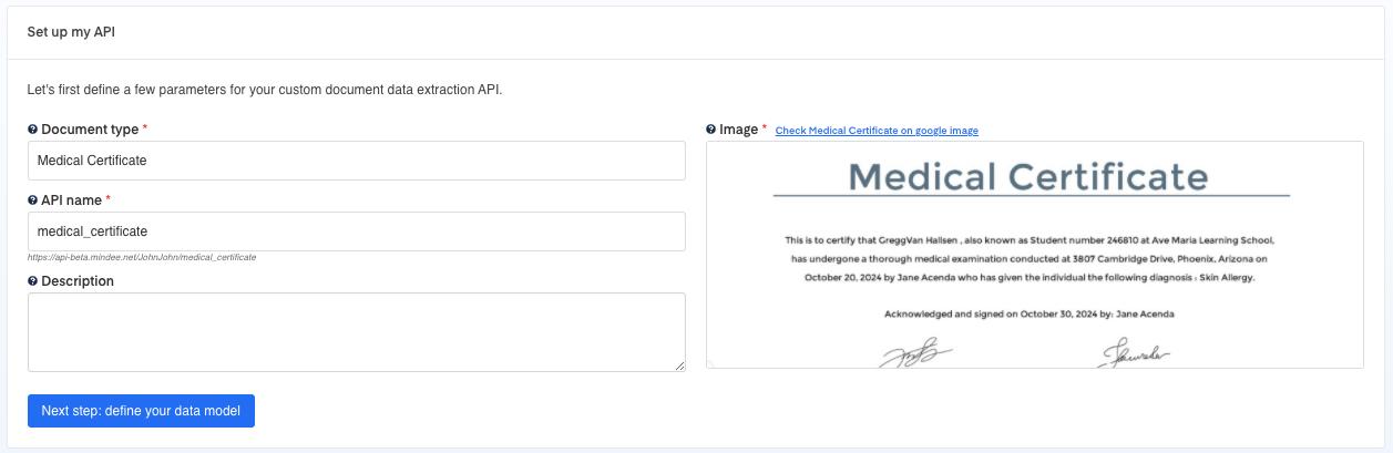 Set up your Medical Certificate OCR API