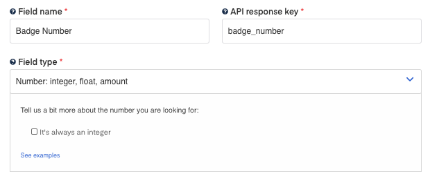 Badge number field for  Traffic Ticket OCR