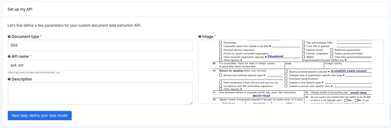 Set up your  SS4 OCR API