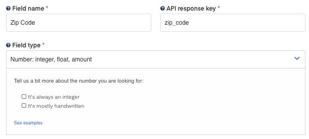 Zip Code field for  W9 OCR