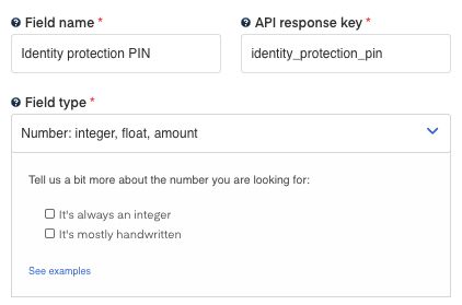 Identity Protection PIN for  1040 form OCR